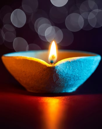 First Grade Seasons Activities: Make a Diwali Diya