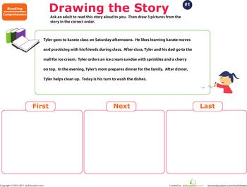 story sequence worksheets. Black Bedroom Furniture Sets. Home Design Ideas