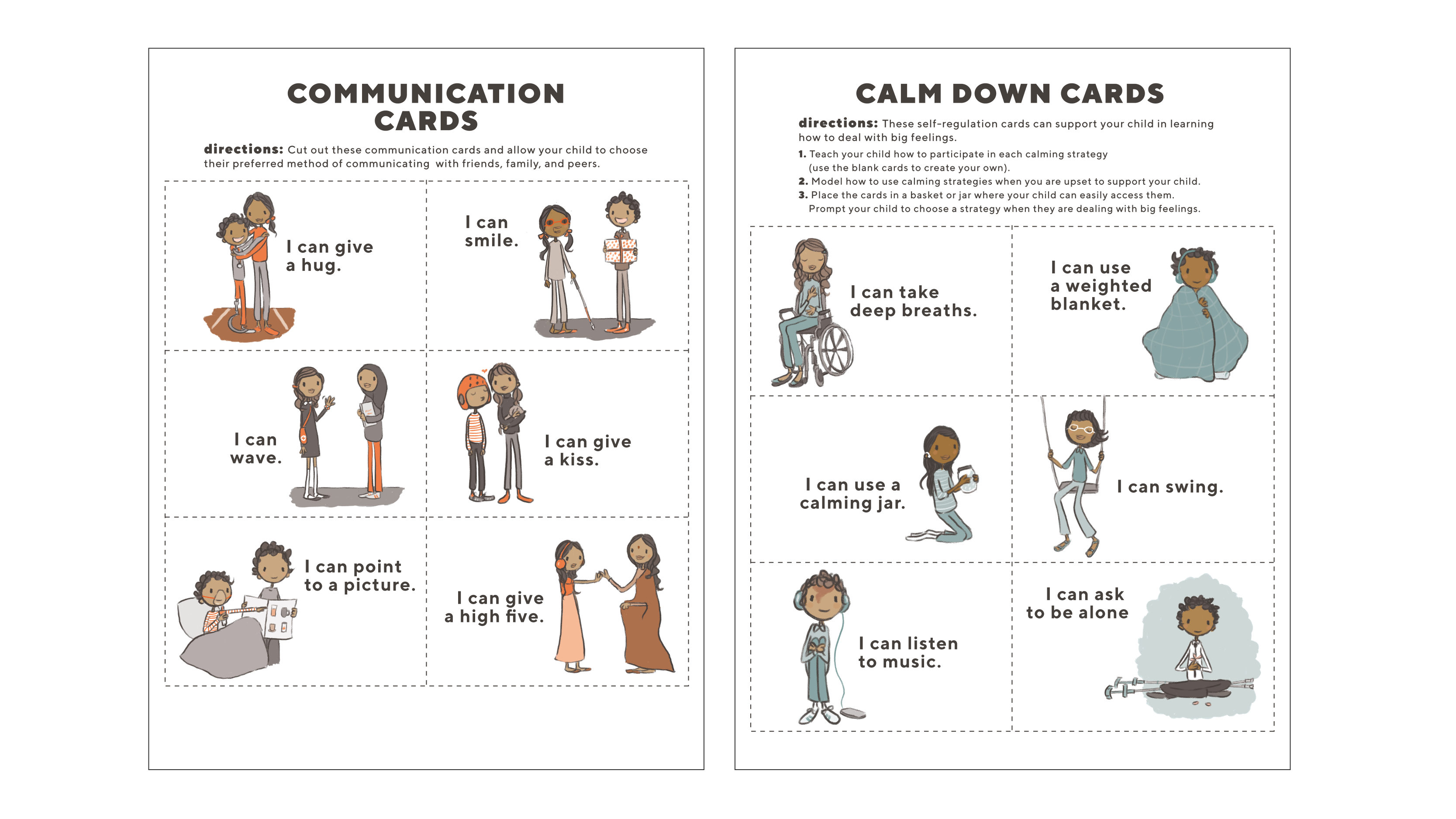 Communication and Calm Down Cards