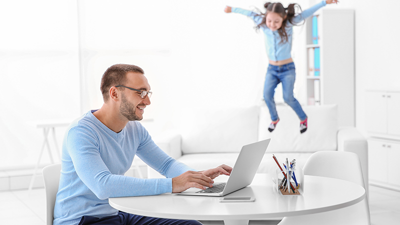 how to work from home when your child is with you
