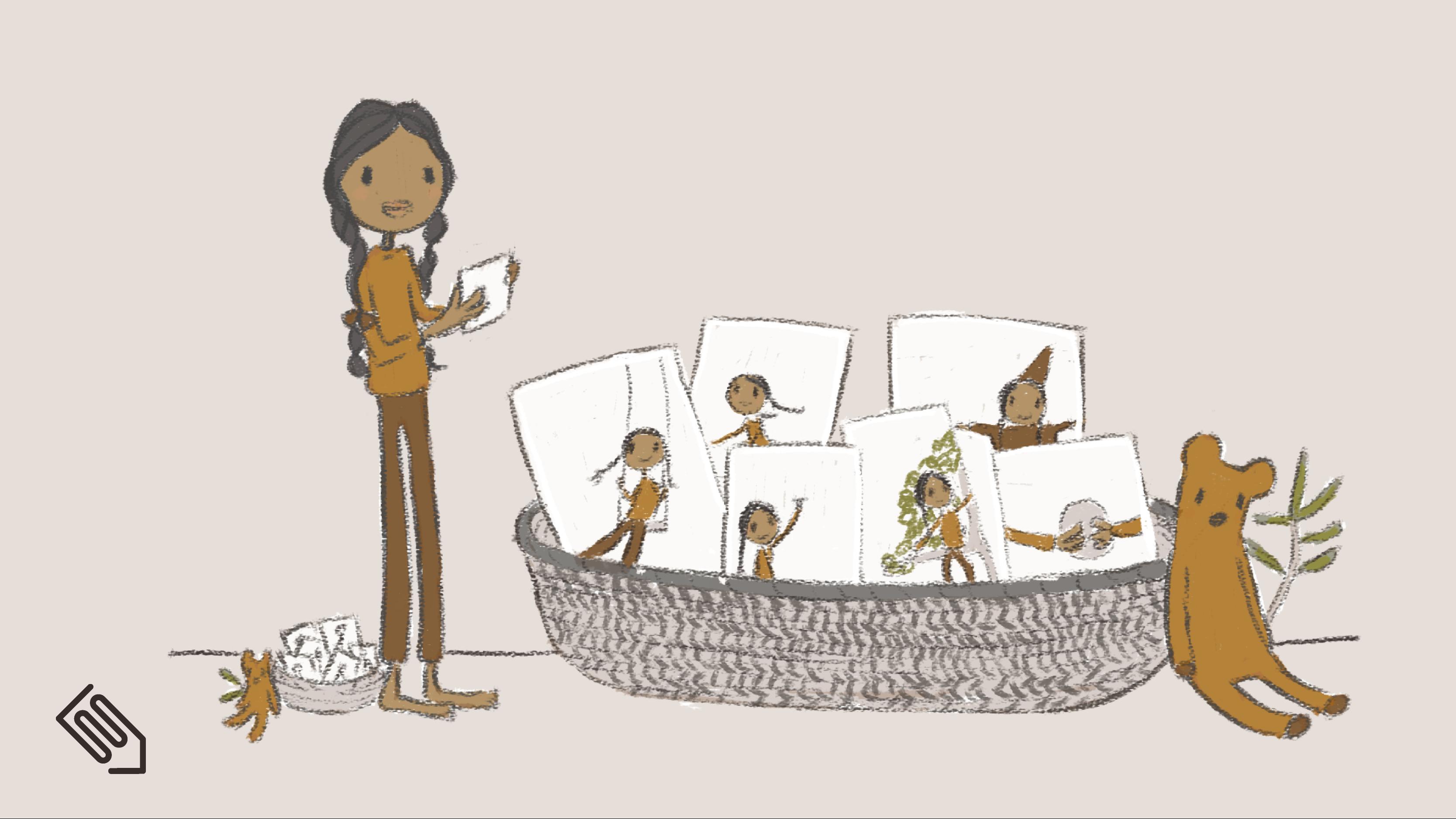 Children self-regulate with a basket of activities