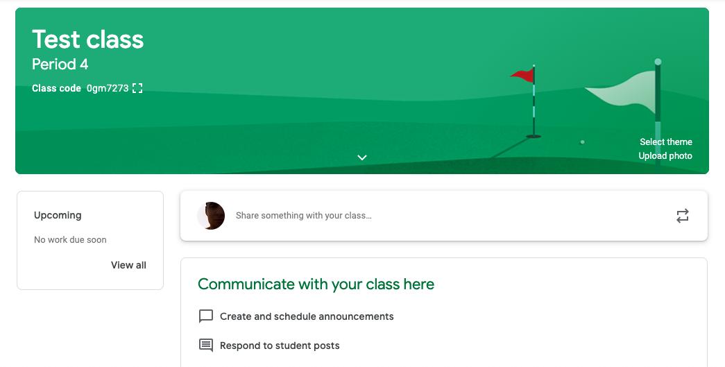 Google Classroom stream