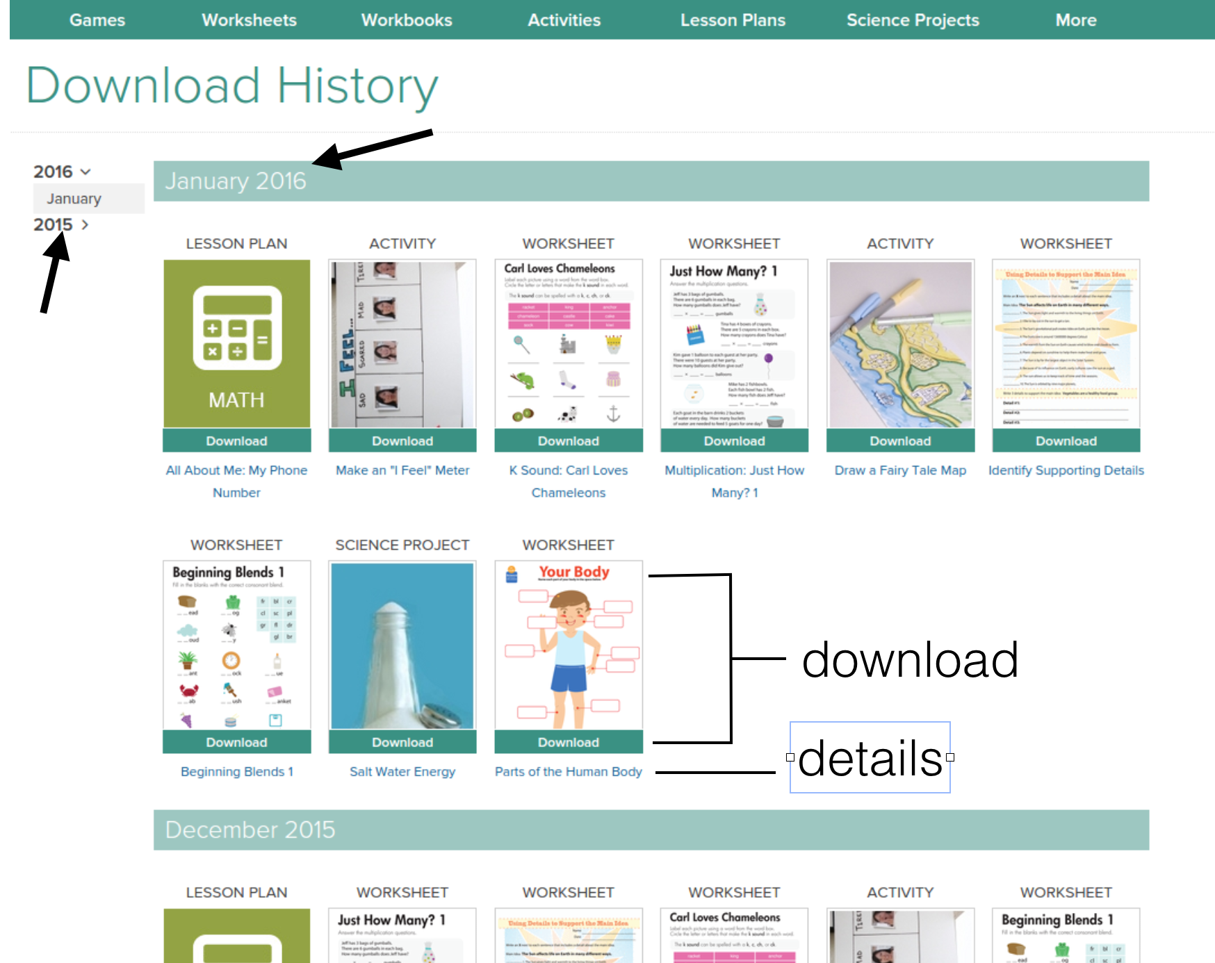 Navigating Download History