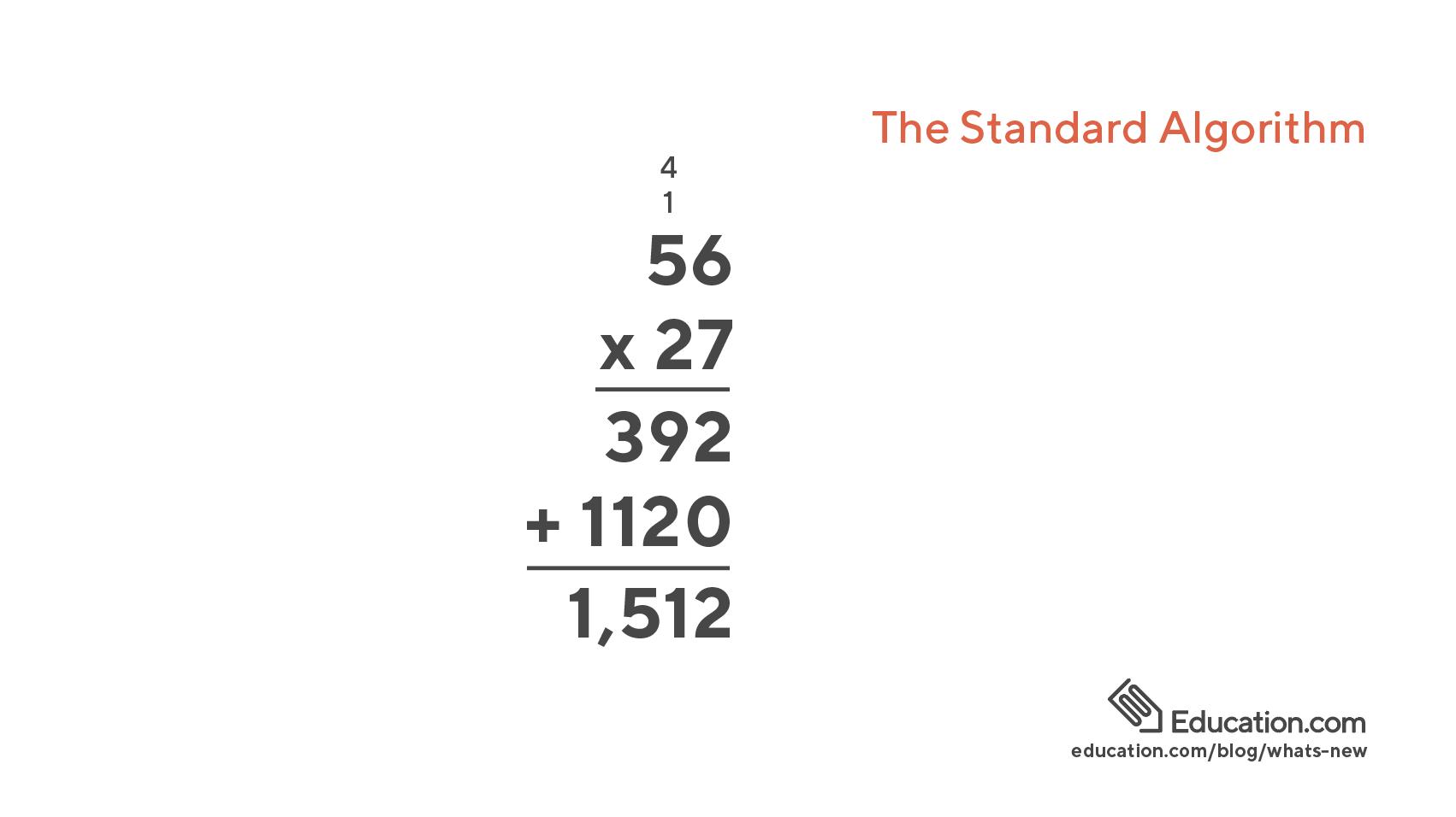 Standard Algorithm example