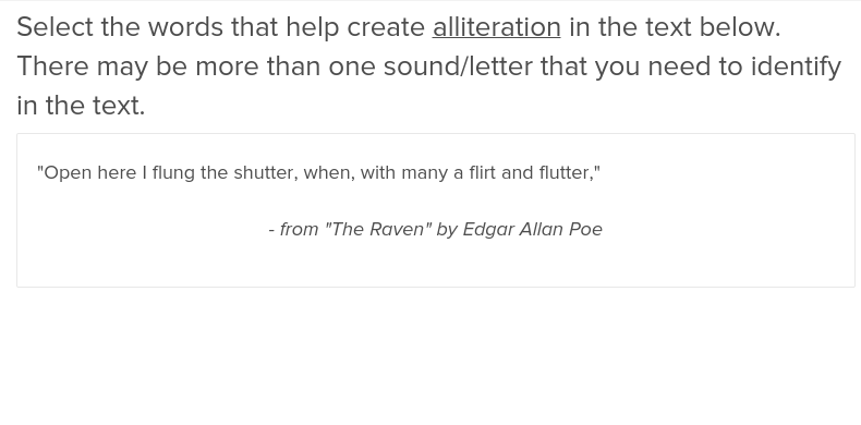 Alliteration Exercise Education