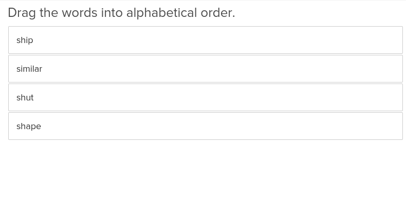 Spelling: Alphabetizing