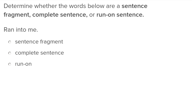 Complete Sentences | Exercise | Education.com