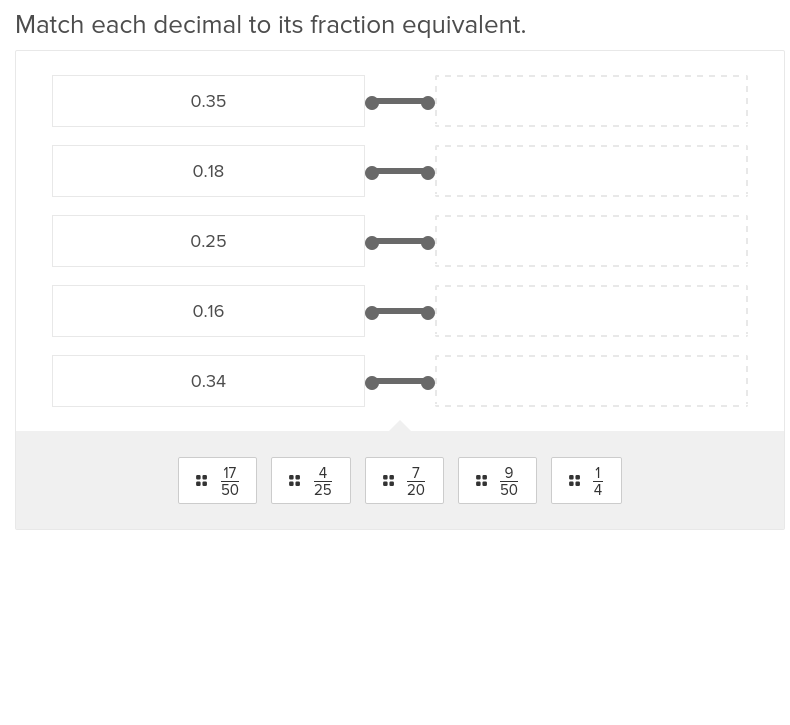 Convert Decimals to Fractions 2
