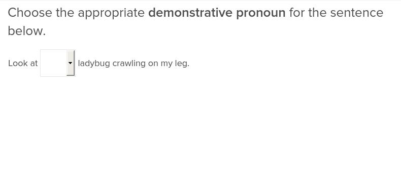 demonstrative pronouns exercise education com