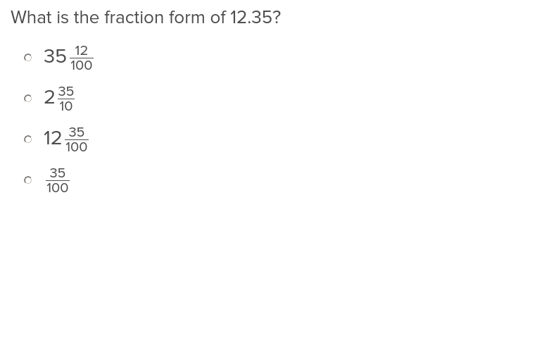 4th grade Math Exercises: Decimal Fractions 1