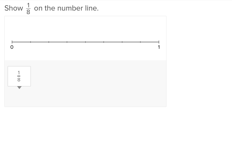 Fractions on a Number Line 1