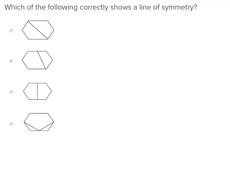 4th grade Math Exercises: Lines of Symmetry