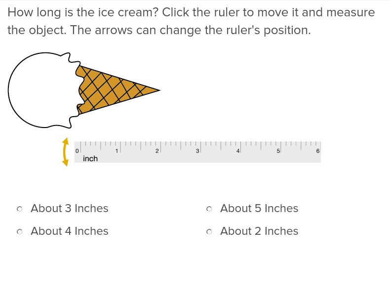 2nd grade Math Exercises: Measuring Length in Inches