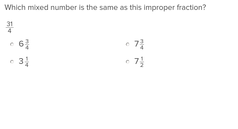 3rd grade Math Exercises: Mixed Numbers and Improper Fractions 1