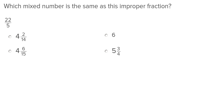 Mixed Numbers and Improper Fractions 2