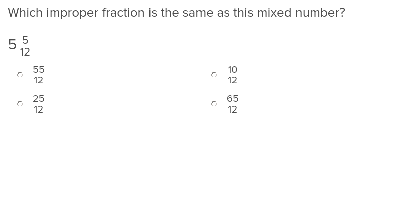 Mixed Numbers and Improper Fractions 3