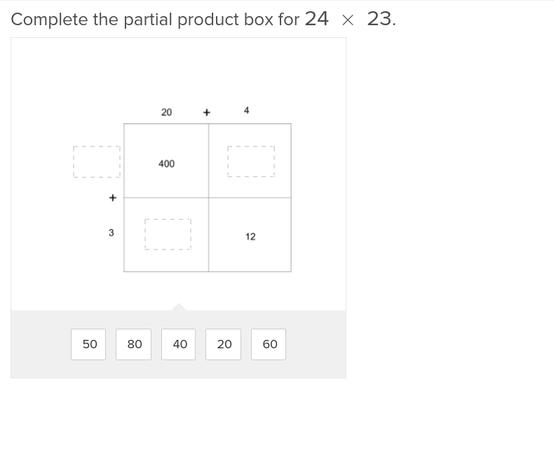 5th grade Math Exercises: Multi-Digit Multiplication and Partial Products 1