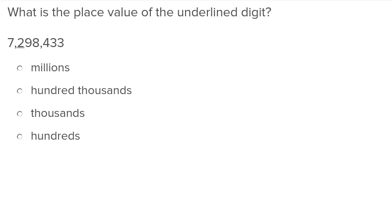 Place Value Up to Hundred Thousands Place