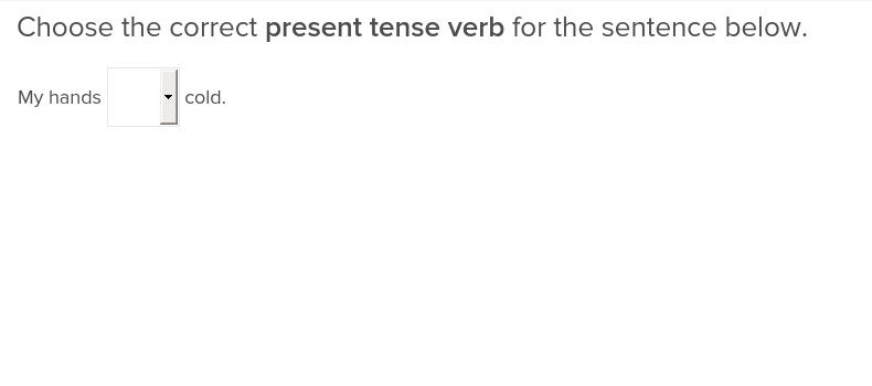 Present Tense Verbs 1