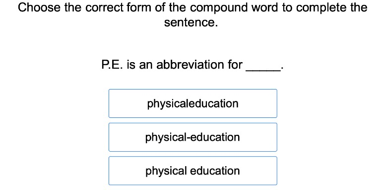5th grade Reading & Writing Exercises: Compound Words 2