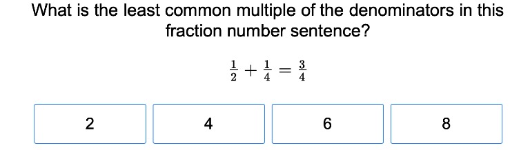 5th grade Math Exercises: Fractions and Least Common Multiples