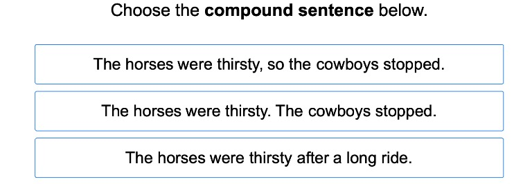 3rd grade Reading & Writing Exercises: Simple, Compound, and Complex Sentences