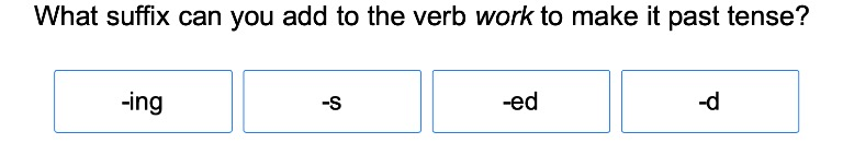 Suffixes to Change Verb Tenses 1