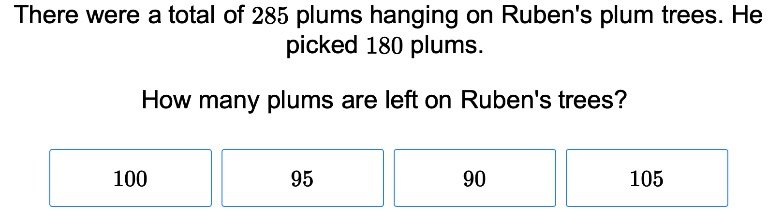 3rd grade Math Exercises: Three-Digit Subtraction Word Problems