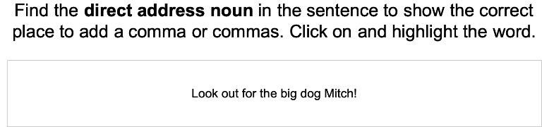 Using Commas to Indicate Direct Address