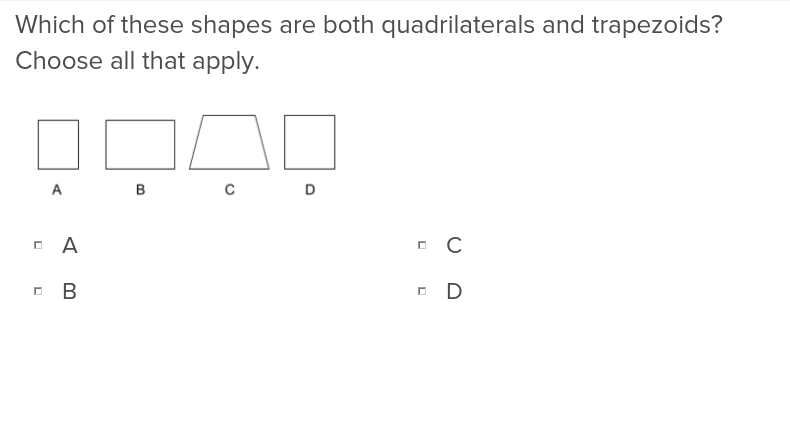 5th grade Math Exercises: Sort Two Dimensional Figures Based on Properties