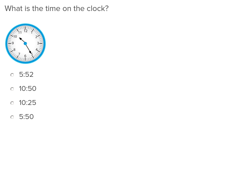 3rd grade Math Exercises: Time to the Minute
