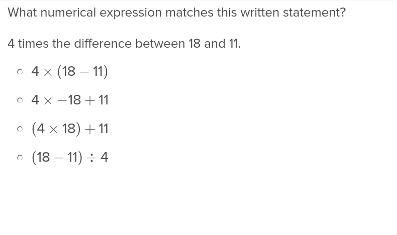 5th grade Math Exercises: Understanding Expressions and Equations