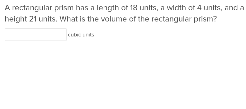 5th grade Math Exercises: Volume of a Rectangular Prism