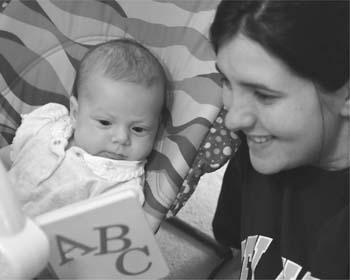Reading to a child encourages language development.