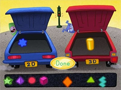 2D and 3D Shape Sort: Car