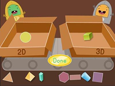 2D and 3D Shape Sort: Factory