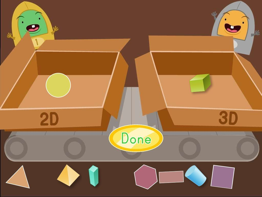2D and 3D Shapes Factory Game | Game | Education.com