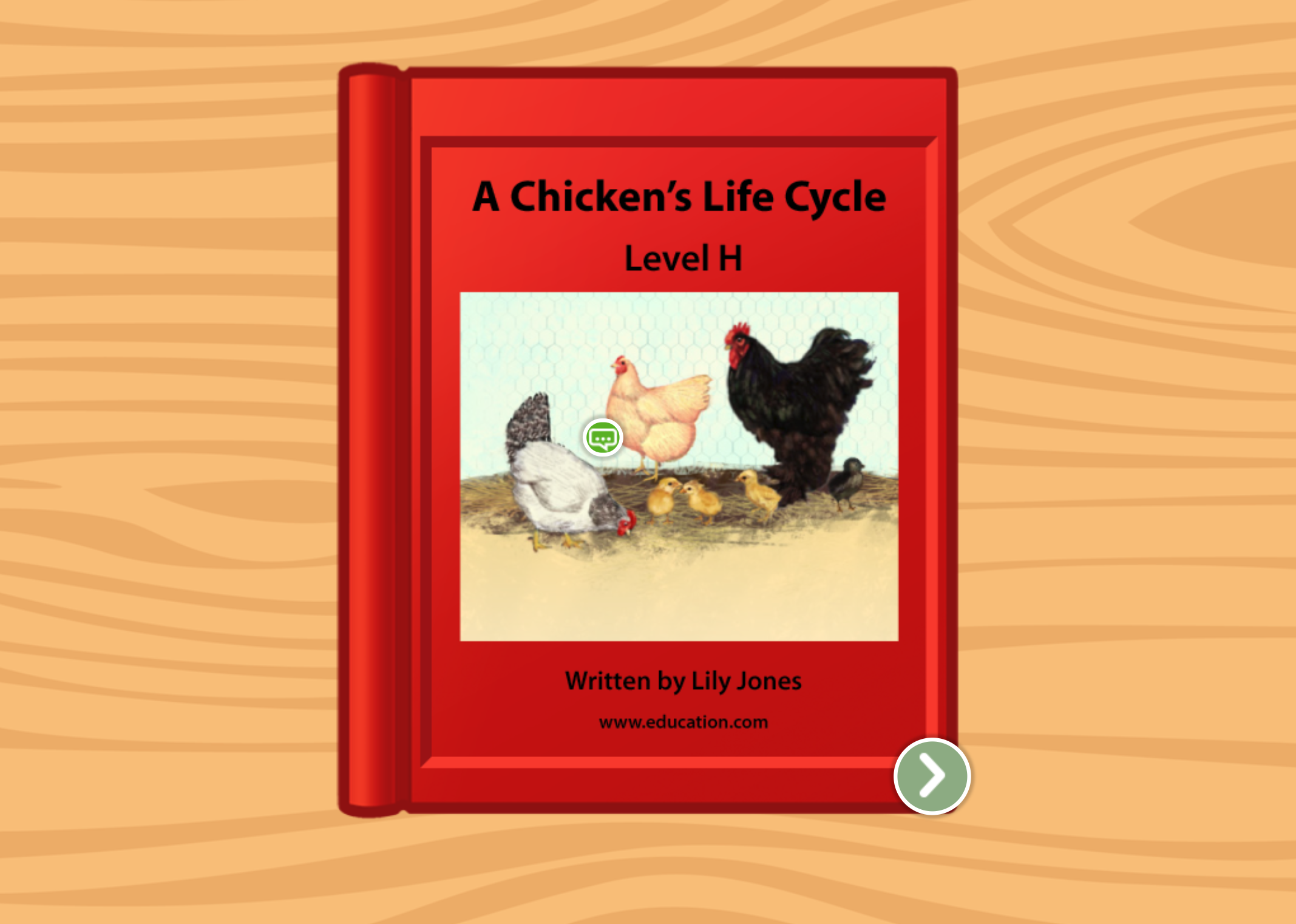 1st grade Reading & Writing Stories: A Chicken's Life Cycle: Level H