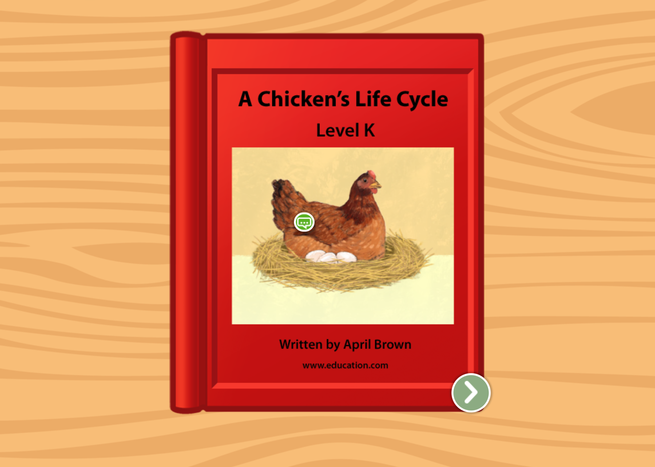2nd grade Reading & Writing Stories: A Chicken's Life Cycle: Level K