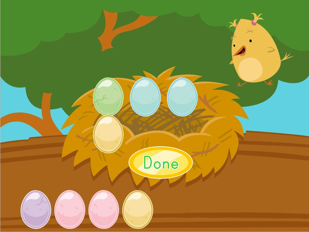 Kindergarten Math Games: Adding Eggs with Birdee