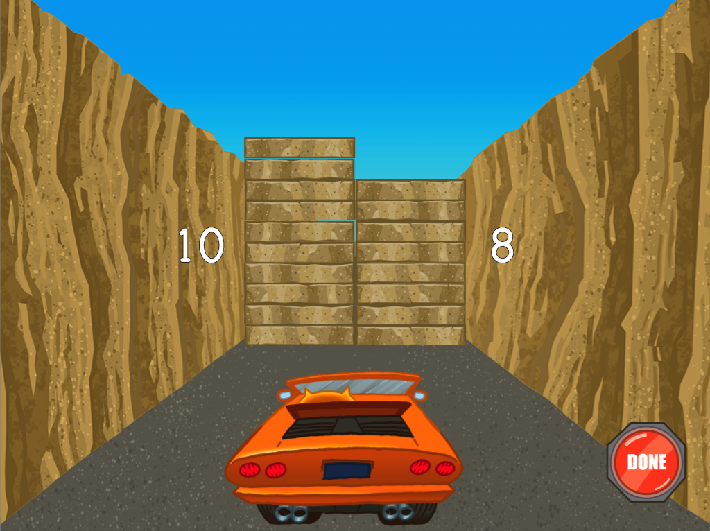 1st grade Math Games: Roadblock: Addition Within 20