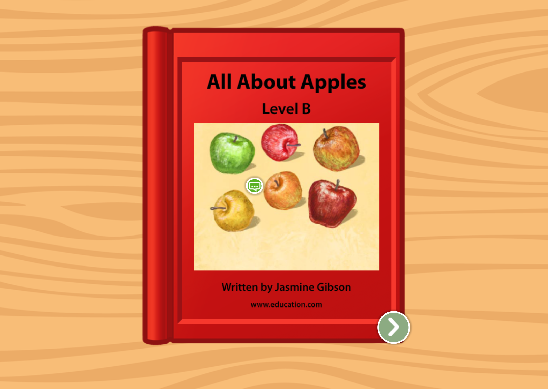 kindergarten Reading & Writing Stories: All About Apples: Level B