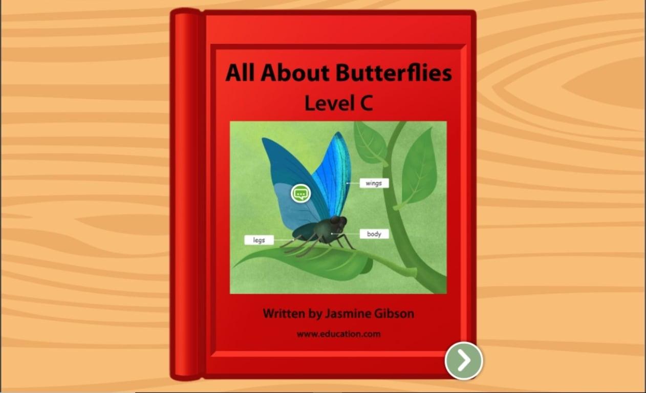 Kindergarten Reading & Writing Stories: All About Butterflies: Level C