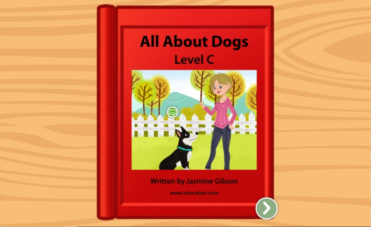 kindergarten Reading & Writing Stories: All About Dogs: Level C
