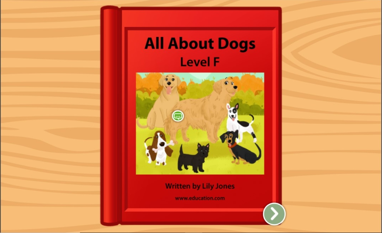 1st grade Reading & Writing Stories: All About Dogs: Level F