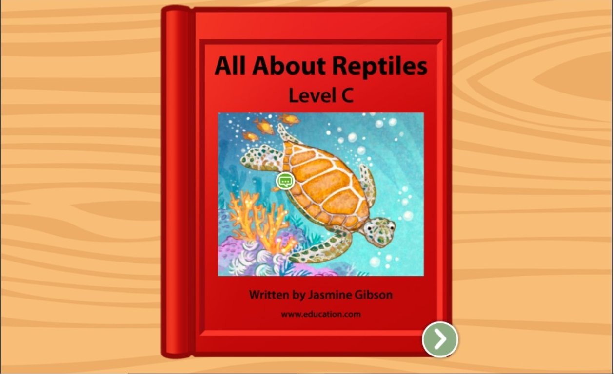 Kindergarten Reading & Writing Stories: All About Reptiles: Level C