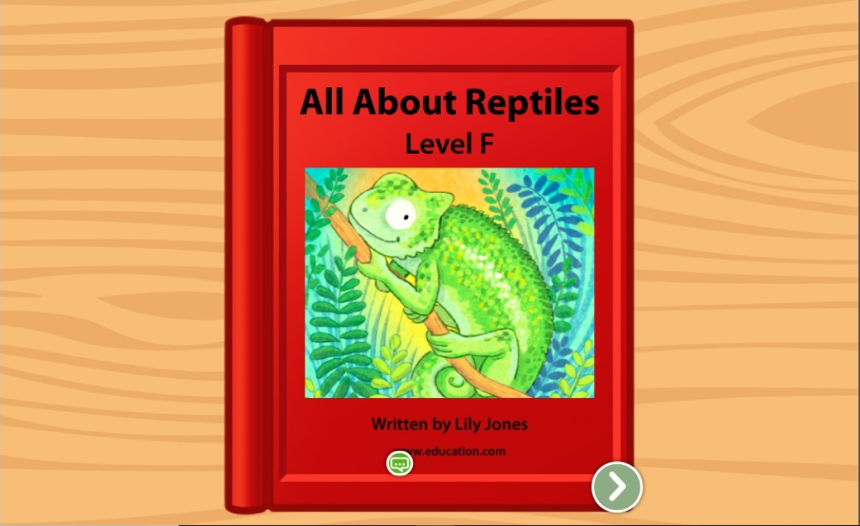 1st grade Reading & Writing Stories: All About Reptiles: Level F