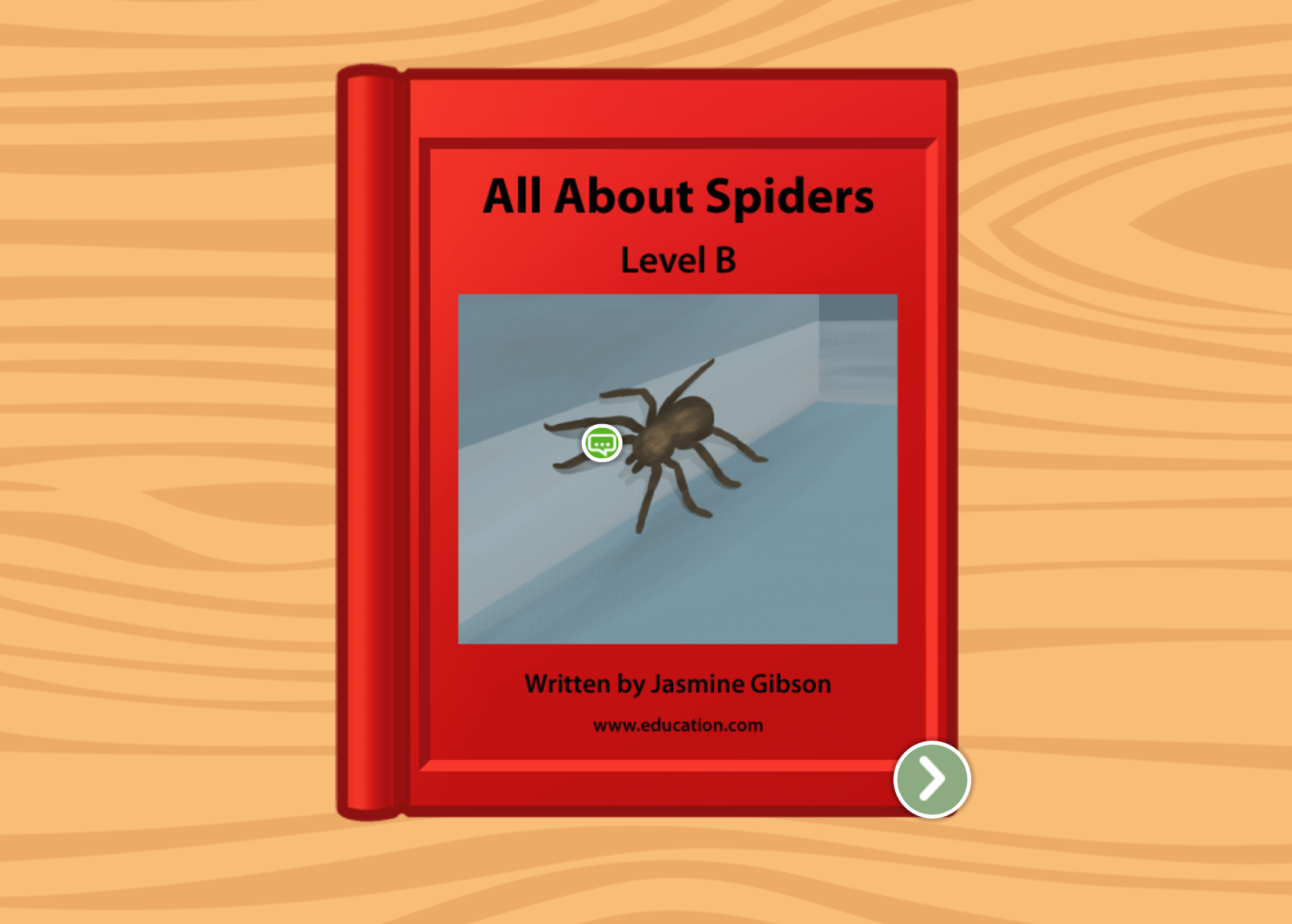 Kindergarten Reading & Writing Stories: All About Spiders: Level B