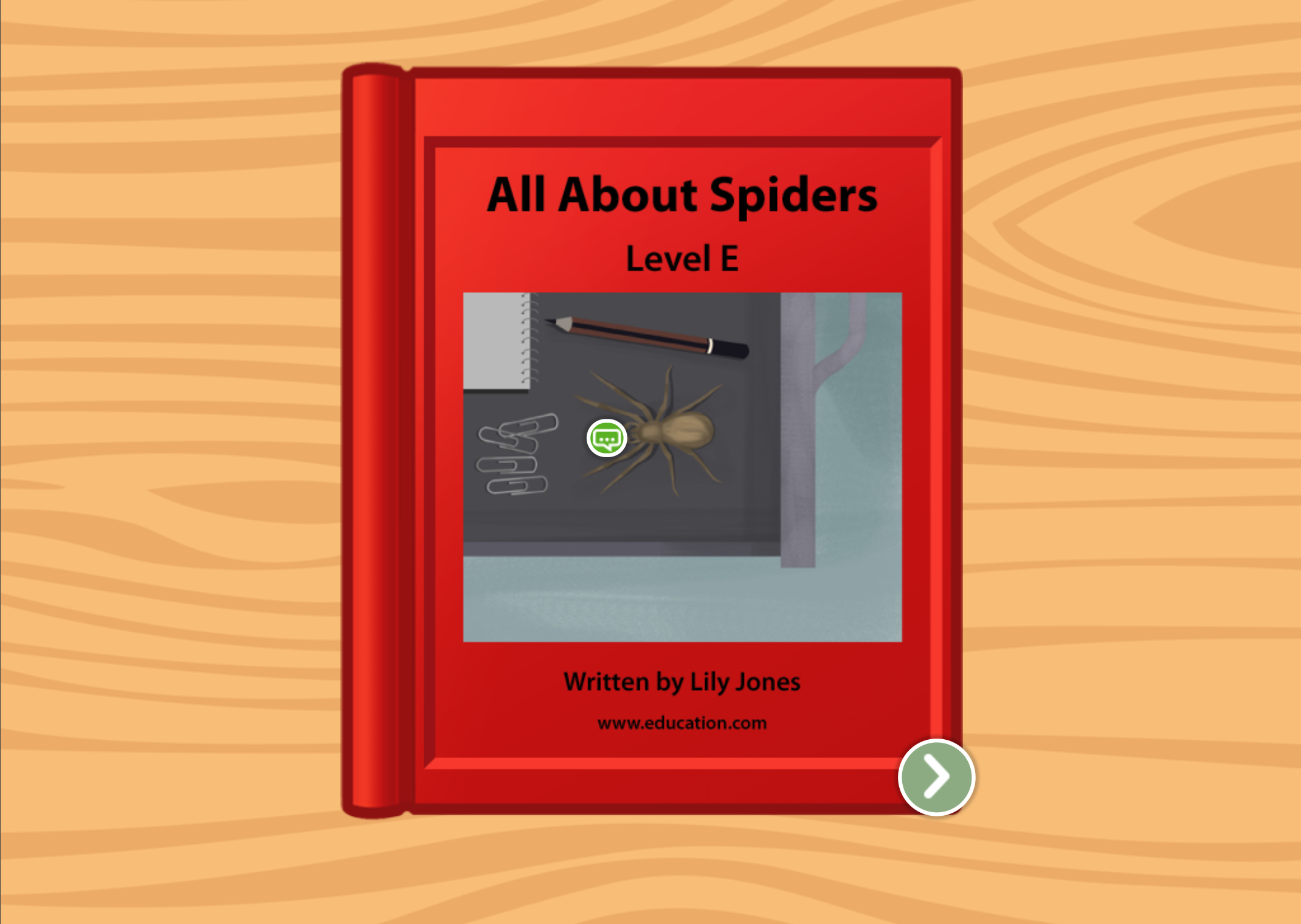 1st grade Reading & Writing Stories: All About Spiders: Level E