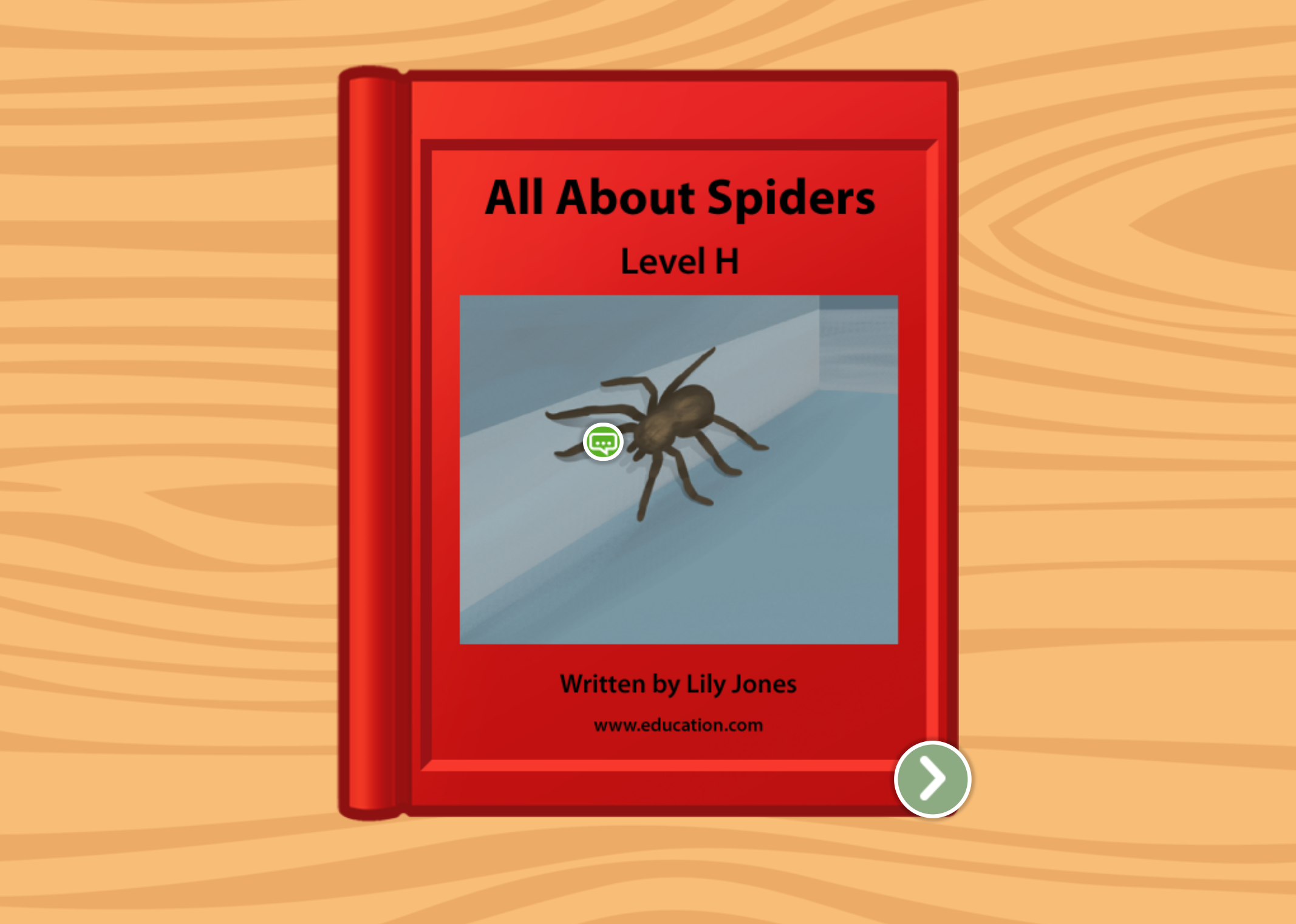 1st grade Reading & Writing Stories: All About Spiders: Level H